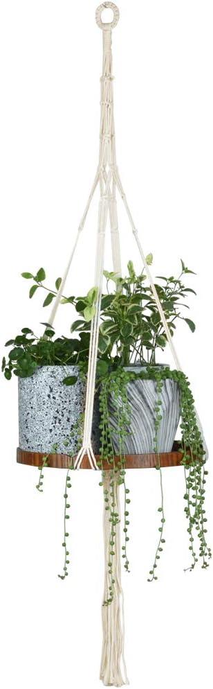 Handmade Cotton Rope Ranking TOP4 Super sale Macrame Plant Hangers Outdoor Indoor Shelf
