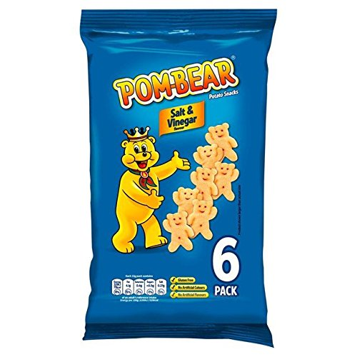 Pom Bear Salt & Vinegar 15g x 6 per pack