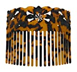 Hawaiian Samoan Faux Turtle Shell Carved Turtle Comb