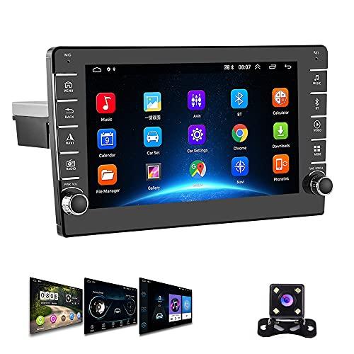 1 Din Android Autoradio GPS Podofo 8-Zoll-Touchscreen WiFi Bluetooth FM Handy-Spiegel-Link Dual USB 2 Din Auto Radio+ Rückfahrkamera