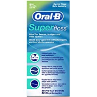 Oral B SuperFloss Seda Dental sin Cera (1 unidad x 50 hilos)
