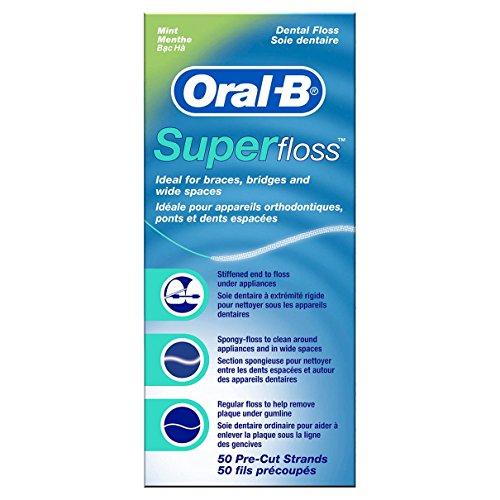 Oral-B Superfloss Filo Interdentale 50 Fili Pre-Tagliati, Confezione da 12