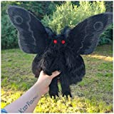 JHGH Plushy Stuff Animals ,Gothic Mothman Anime Plushies is Looking for A Love and Magical Home,Bright Red Eye Stuffed Plush Doll for Home Decoration Birthday Gift for Friends 8x9 in