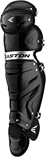 EASTON GAMETIME Baseball Catchers Leg Guards | 2020 | Vented Shell For Ultimate Protection & Breathability | Triple Knee System For Ultimate Fit & Mobility | EVA Breathable Foam Liners