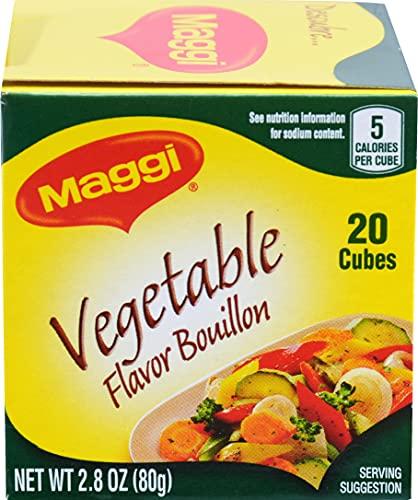Maggi Vegetable Flavor Bouillon Cubes, 2.82 oz