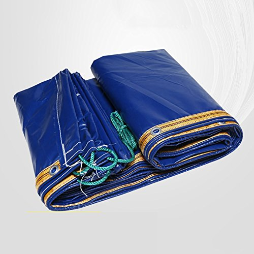 ZEMIN Bâche Protection Couverture Transparente Imperméable Crème Solaire Tente Drap Coupe-Vent Toit Anti-âge Isolation Polyester, Bleu, 400G / M², 15 Tailles Disponibles (Color : Blue, Size : 5X8M)