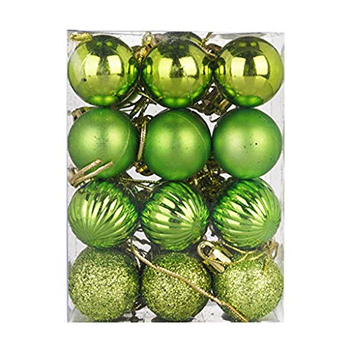 Printasaurus Topper Bauble  30Mm Christmas Xmas Tree Ball Bauble Hanging Home Party Ornament Decor 24Pc Home & Garden Home Decor