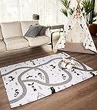 Hakuna Matte große Spielmatte Baby 1,9x1,3m – Stilvoller Spielteppich im skandinavischen Design besteht aus dickem, weichem & wasserdichtem Schaum – schadstofffreie, geruchlose Krabbelmatte