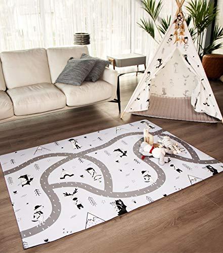 Hakuna Matte große Spielmatte Baby 2,0x1,4m – Stilvoller Spielteppich im skandinavischen Design besteht aus dickem, weichem & wasserdichtem Schaum – schadstofffreie, geruchlose Krabbelmatte