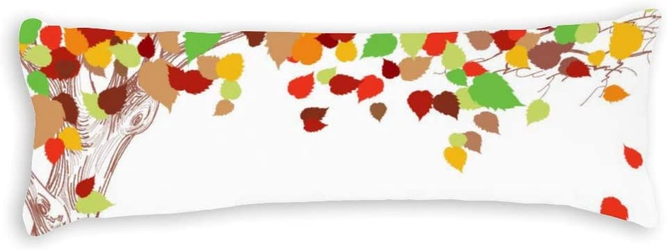 Yilooom Autumn and Fallen Leaves Pillow Case Canvas Milwaukee Mall Throw Square Ranking TOP1