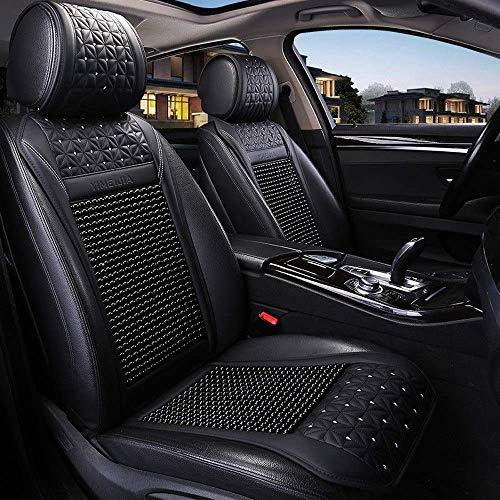 Asiento de coche cubierta del asiento del conductor cubiertas del asiento protector Auto Accesorios for auto, delantera y posterior de bambú Comfort protector del amortiguador del asiento 5 Sistema co