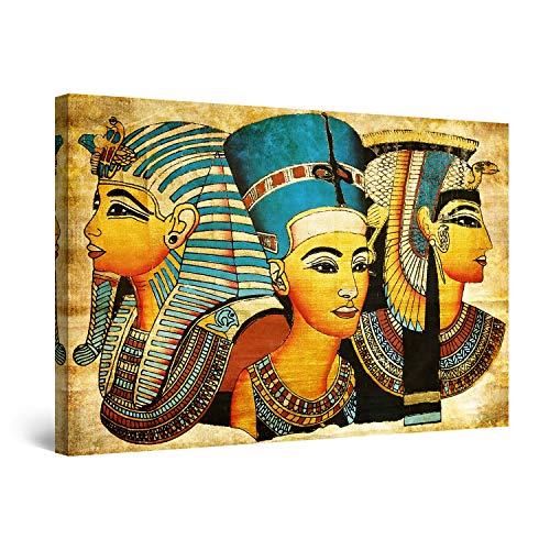 Startonight Cuadro Moderno en Lienzo Los Dioses Míticos Egipcios, Pintura Abstracta Para Salon Decoración 60 x 90 cm