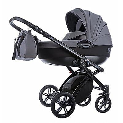 Knorr-Baby Alive - Cochecito combi infantil negro gris