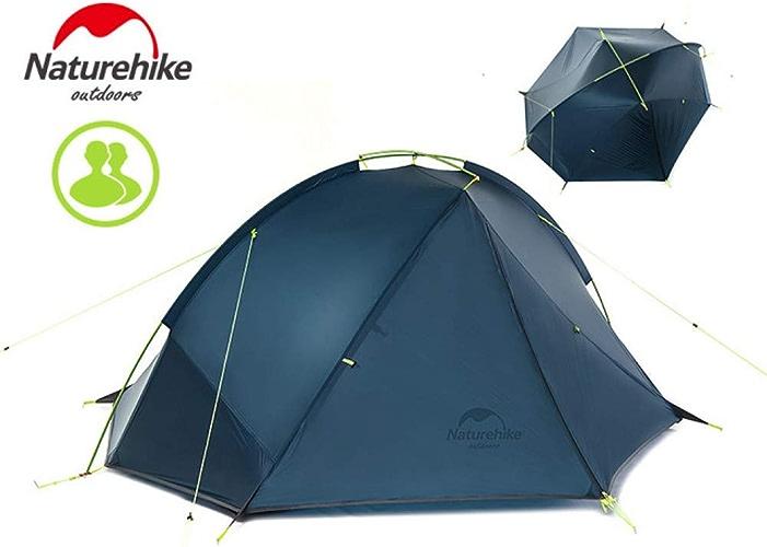 MDZH Tente Tente De Camping pour 1-2 Personnes, Double Couche Légère Tente Imperméable Coupe-Vent pour Une Chambre Trois Saisons