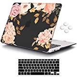 iCasso Compatible with MacBook Air 11 inch Case Model A1370/A1465, Ultra Slim Pattern Plastic Hard Shell Case Protective Cover MacBook Air 11'' with Keyboard Cover Screen Protector - Watercolor Rose