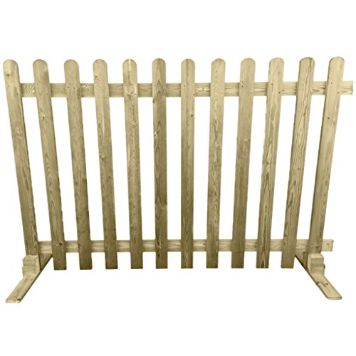 Ruby Portable Freestanding Treated Wooden 6ft Picket Fence Panel 4ft High (1)