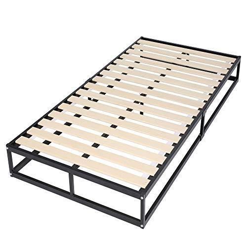 WLIVE パイプベッド ベッドフレーム すのこベッド ベッド パイプ カビ防止 ギシギシしない 耐荷重300KG シングル ACH614BL