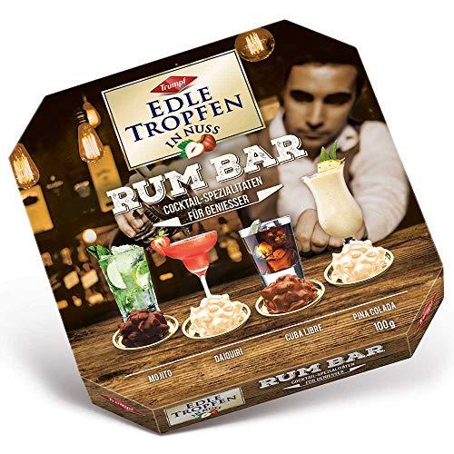 EDLE TROPFEN IN NUSS - RUM BAR (100 g / 4 Rum - Cocktail Spezialitäten) ALKOHOL PRALINEN