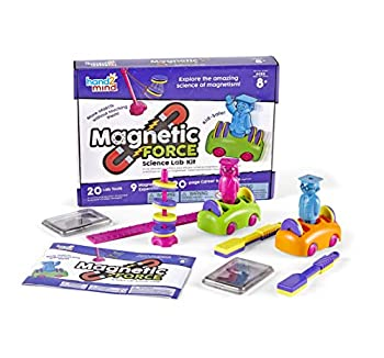 hand2mind Magnetic Science Kit for Kids 8-12 Kids Science Kit with Fact-Filled Guide Make Magnets Float and Build a Compass STEM Toys 9 Science Experiments