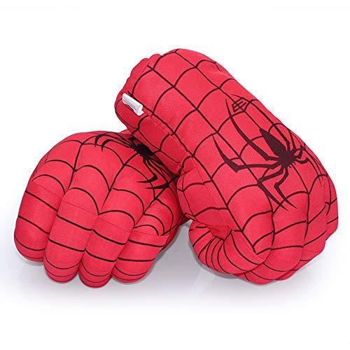 AENMIL Gants de boxe de super héros pour enfants En peluche souple Poings pour déguisement d'anniversaire, Noël, Halloween, Spiderman