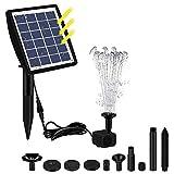 CONSUNDYTT Característica del Agua de Las Fuentes solares, Fuente Solar de la Fuente Flotante de la energía Solar para el jardín de la Piscina del jardín Decorativo