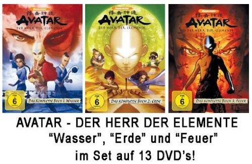 Avatar - Der Herr der Elemente - Das komplette Buch 1-3Set: Wasser, Erde, Feuer (13DVDs)
