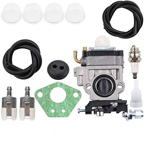 Kizut EB4401 Carburetor for RedMax EB7001 EB7000 EB431 EB4300 EB4400 Backpack Leaf Blower Parts Fuel Line Filter Tank Grommet Primer Bulb Kit