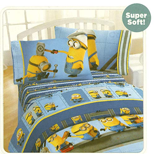 Kids Warehouse Despicable Me Minions at Work Full Size Sheet Set