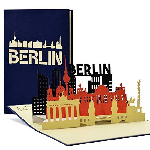 Reisegutschein Berlin, Wochenende I Städtetrip Berlin als Pop Up Karte, Geschenk, Geschenkideen, Geschenkgutschein Städtereise, A109