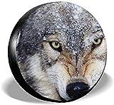 PageHar Protectores de Llantas Resistente a la Intemperie, Cubierta para llanta de Repuesto, Cubiertas para Ruedas de poliéster, Cubierta para Llantas Go Wolf
