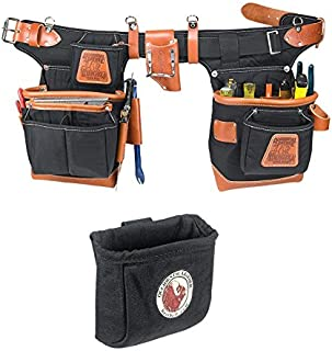 Occidental Leather 9850 Adjust-to-Fit Fat Lip Tool Belt Set Black Bundle w/ 9501 Clip-On Pouch (2 Pieces)