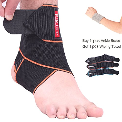 Ankle Support,Adjustable Ankle Brace Breathable Nylon Material Super Elastic and Comfortable One Size Fits All, Perfect for Sports, Protects Against Chronic Ankle Strain, Sprains Fatigue,Orange