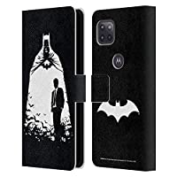 Head Case Designs オフィシャル ライセンス商品 Batman DC Comics オルターエゴ Bats デュアリティ Motorola Moto G 5G 専用レザーブックウォレット カバーケース
