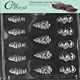Cybrtrayd Life of the Party Bite Size Tree, Santa, Snow Chocolate Candy Mold in Sealed Protective Poly Bag Imprinted with Copyrighted Cybrtrayd Molding Instructions