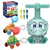 Upgraded Balloon Powered Launcher Car Toy Set, Dino Balloon Racing Car Kit, Balloon Air powered Vehicle Set, Inflatable Creative STEM Toys Gift for Kids, 6 Ballons included (Blue Classic)…