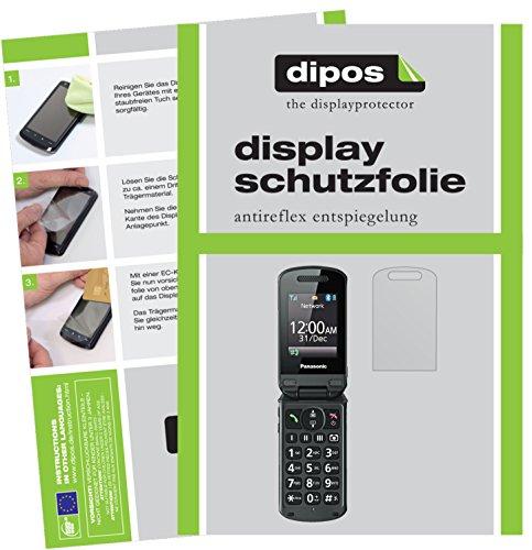 dipos I 2X Schutzfolie matt kompatibel mit Panasonic KX-TU329 Folie Bildschirmschutzfolie