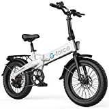 G-Force Folding Electric Bicycle, 20-inch 4.0 Fat tire,7-Speed Gear City Commuter Electric Bicycle.