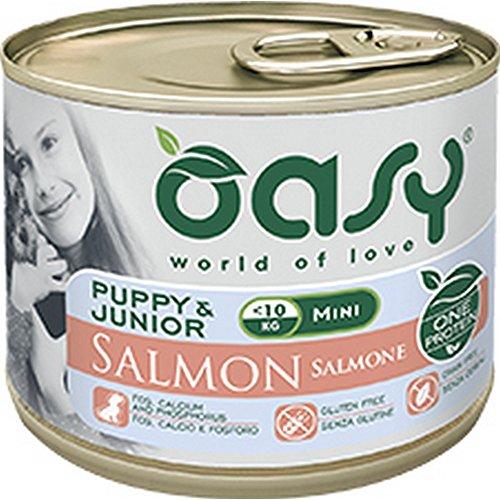 Oasy Dog Monoproteico Puppy&Junior Mini con Salmone 200 gr