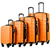 Murtisol Travel 3 Pieces ABS+PC Luggage Sets,...