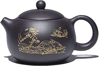 JIAZHOUMA 270 ml Yixing tradycyjne fioletowe czajniki glinkowe Xishi filtr uroda czajnik czajnik do herbaty chińska herbat...