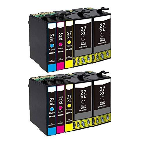 Karl Aiken 10X 27XL - Cartucho de tinta para Epson 27 XL para Epson Workforce WF-3620 WF-3640 WF-7110 WF-7210 WF-7610 WF-7620 WF-7710 WF-7715 WF-7720