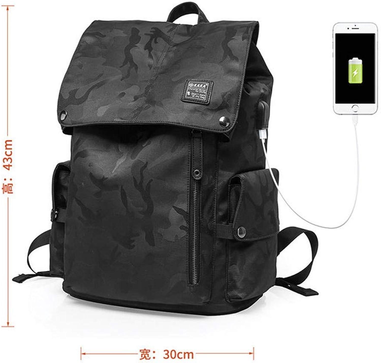 Camouflage-Studententasche des mnnlichen Freizeittrends des Rucksackmnners einfache Freizeitreisetasche Computerrucksack mnnliche