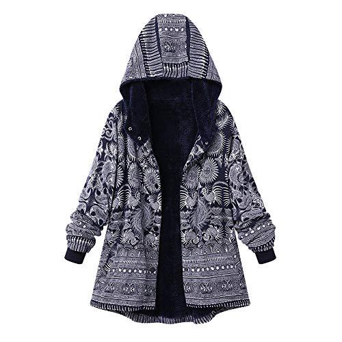 i-uend 2019 Neu Damen Mantel, Strickjacke Damen Langarm Warmer Freizeit Sport Große Größe Dicke Mäntel Reißverschluss Mantel mit Kapuze Pullover