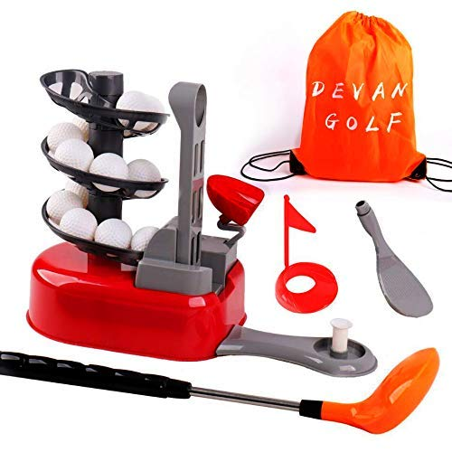 Devan Kids Golf Toys Set, Outdoor toys,Training Golf Ball, Exercise Gifts for 3 4 5 6 7 8 Year Old,Toddlers Boys Girls (Random Color)