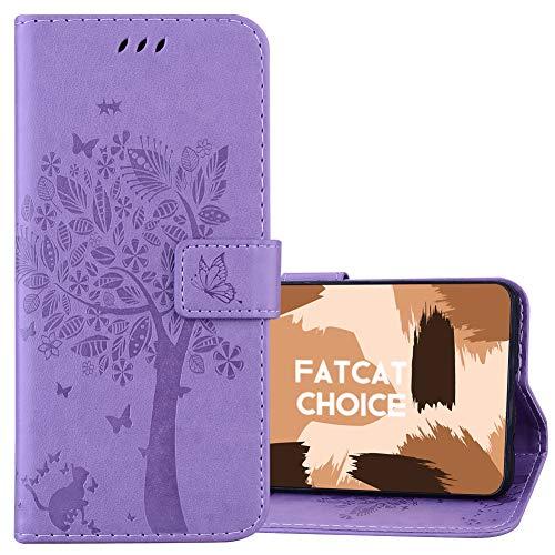 FatcatChoice Funda para Xiaomi Redmi 3S,Carcasa de Tipo Libro con Ranuras para...