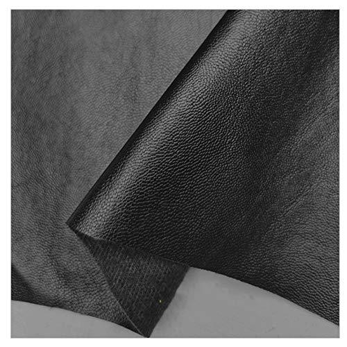 LILAMP Material de Tapicería de Piel Sintética Negro, Tela de Cuero, Tela de Sofá Suave de Grosor Medio para Coser, Hacer Manualidades, Reparar, Decorar(Size:1.4x5m,Color:Negro)