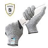Reinalin Schnittschutzhandschuhe mit High Performance Level 5 Schutz, Lebensmittelsicherheit, Arbeitshandschuhe für die Küche, Mandolinenschneiden, Fleischschneiden und Holzschnitzen (M)