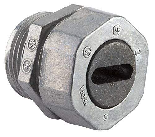 Halex, 1/2 in. Service Entrance (SE) Water tight Conduit Connector , 90661, 1 per pack,Silver
