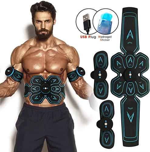 Elettrostimolatore Muscolare -(Uomo/Donna) EMS Suscolo Addominale, Addominali Attrezzi ABS, USB Ricaricabile