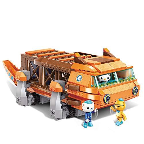Enlighten for Age 6+ Building Block Octonauts GUP-G Mobile Speeders Launcher & Barnacles Kwazii Peso 378pcs Building Brick Set-Without Original Box (3706)
